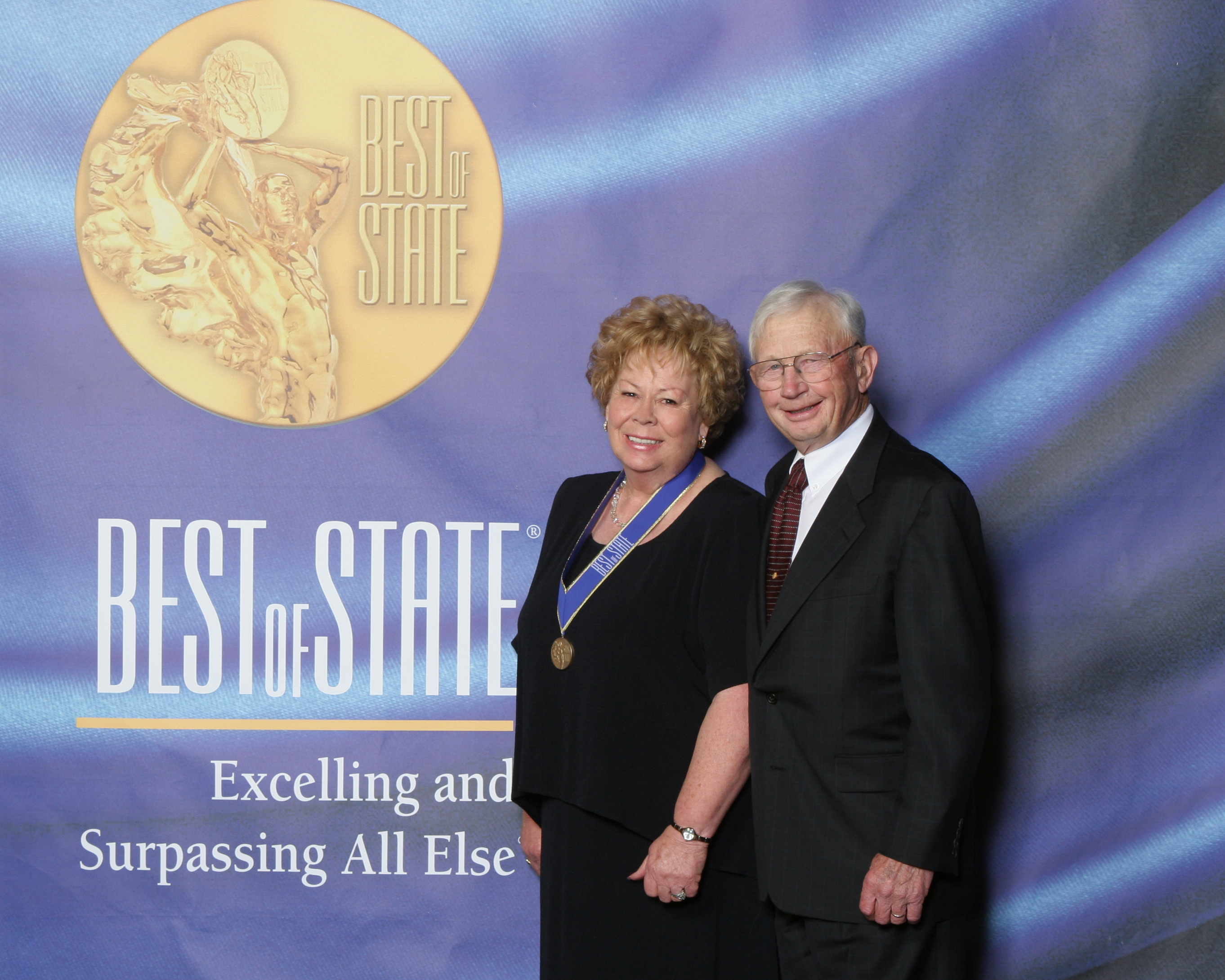 Mrs. Marie Cavanaugh and her husband George Cavanaugh accept Utah's 2005 Best of State Award for Candy / Confectionary